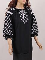 Блуза женская вышиванка Колос 50 Білоцвіт (3084/250) (2-3084/250)