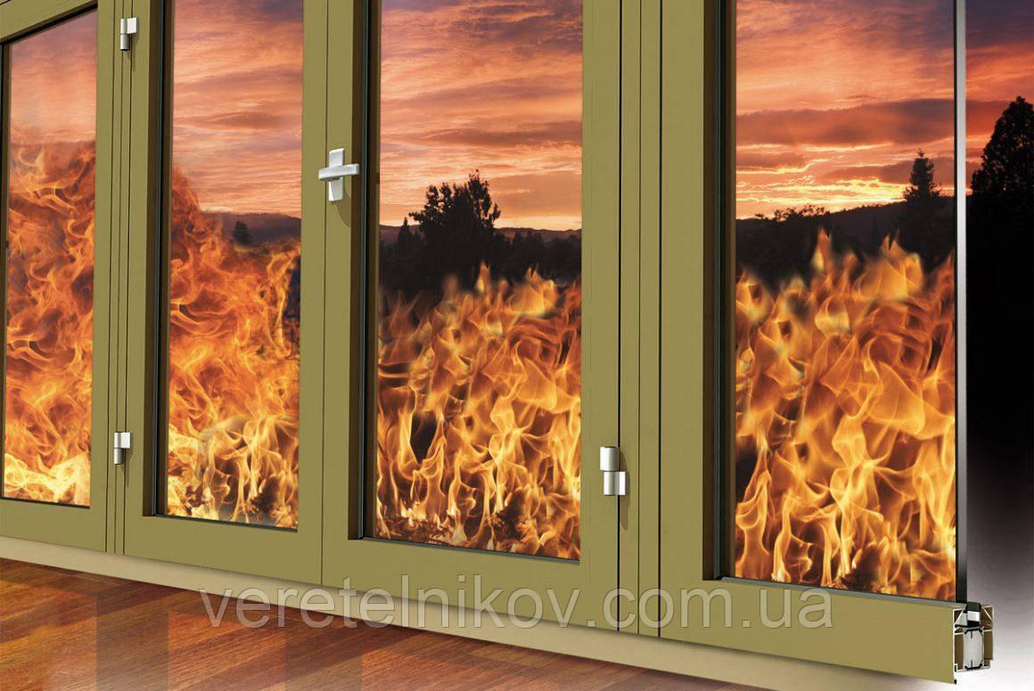 Противопожарные алюминиевые перегородки и двери Ponzio PE 78 EI