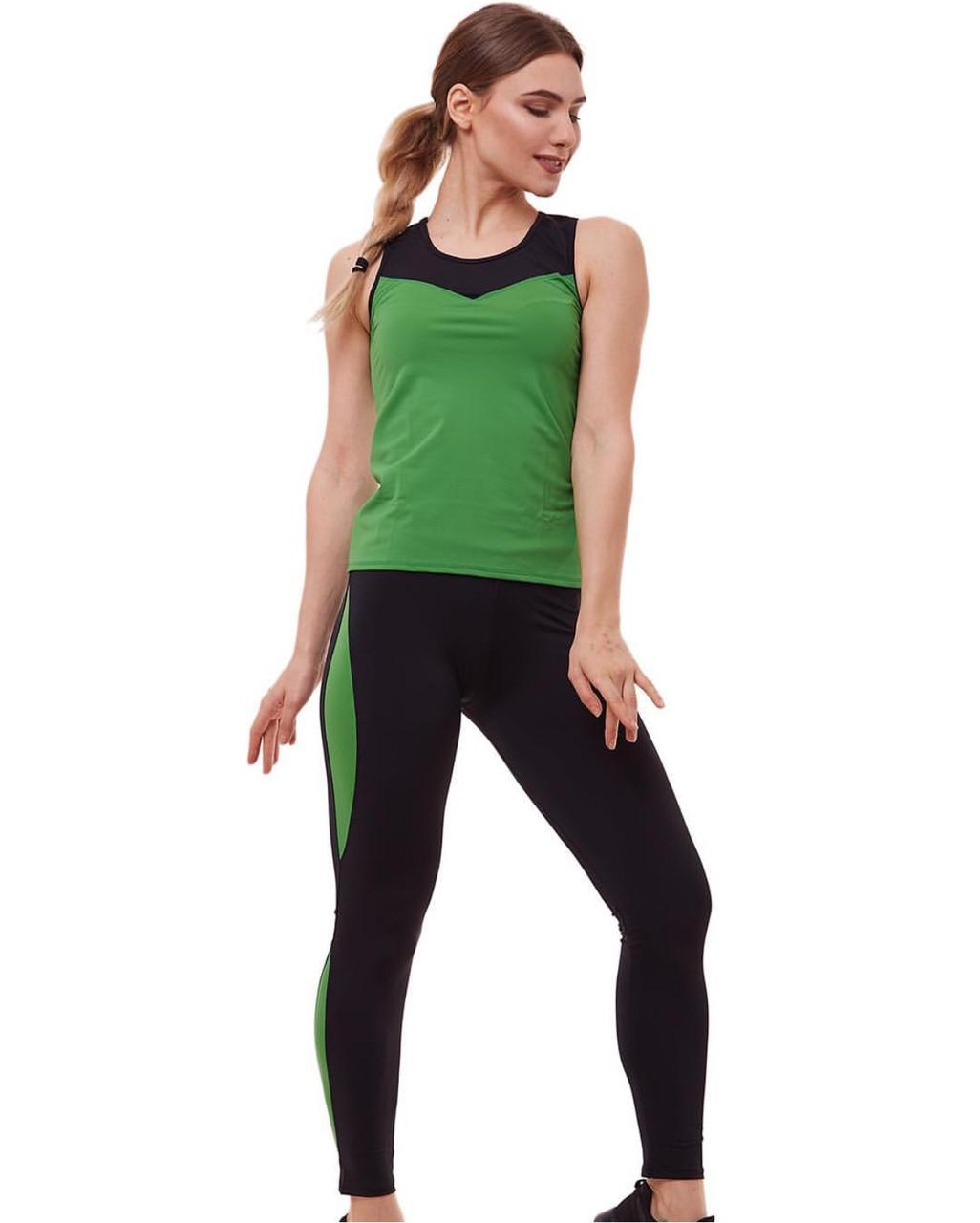 """Костюм для фитнеса """"зеленый и черный"""""""