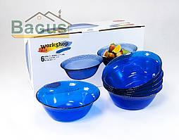 """Набор салатников закаленных 160 мм (6 шт./наб.) синих Pasabahce """"Workshop"""" (10294)"""