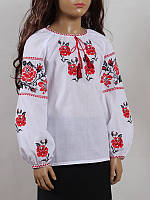 Блуза женская вышиванка детская Колос 30 Трояндочка  (1003/130)