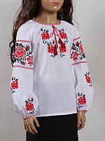 Блуза женская вышиванка детская Колос 40 Трояндочка  (1003/140)