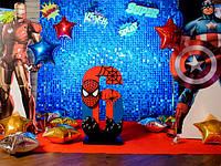 Цифра 6 в стиле супергероев Marvel