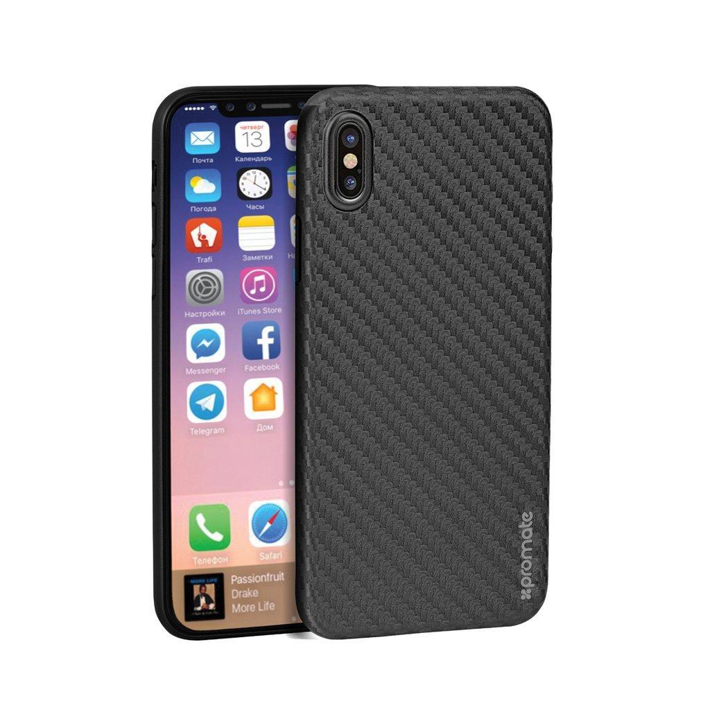 Чехол для iPhone Promate Carbon-X Black