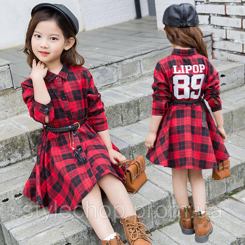 Сукня для дівчаток в клітку