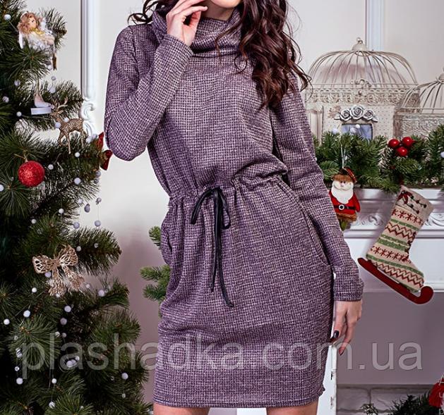Платье с хомутом и удобными карманами