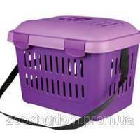 Trixie Midi-Capri переноска для животных до 5 кг, 44х33х32 фиолетовая