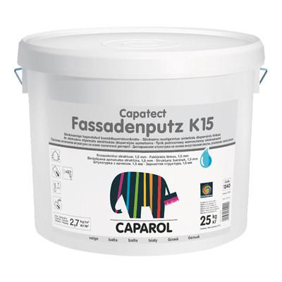 Штукатурка декоративная Камешковая Caparol Capatect Fassadenputz K15 (зерно 1,5 мм) силиконовая (25 кг)