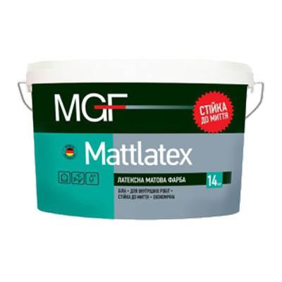 Краска латексная матовая MGF Mattlatex М100 для внутренних работ (14 кг/10 л)