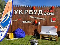Логотип и слова из полистирола для Укр Буд CAMP