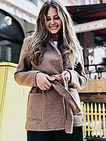 Женский стильный кардиган-пальто до больших размеров