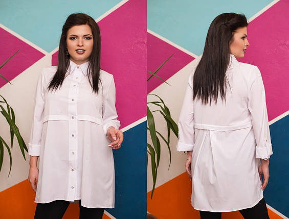 8123557a38d3504 Асимметричная женская рубашка-туника