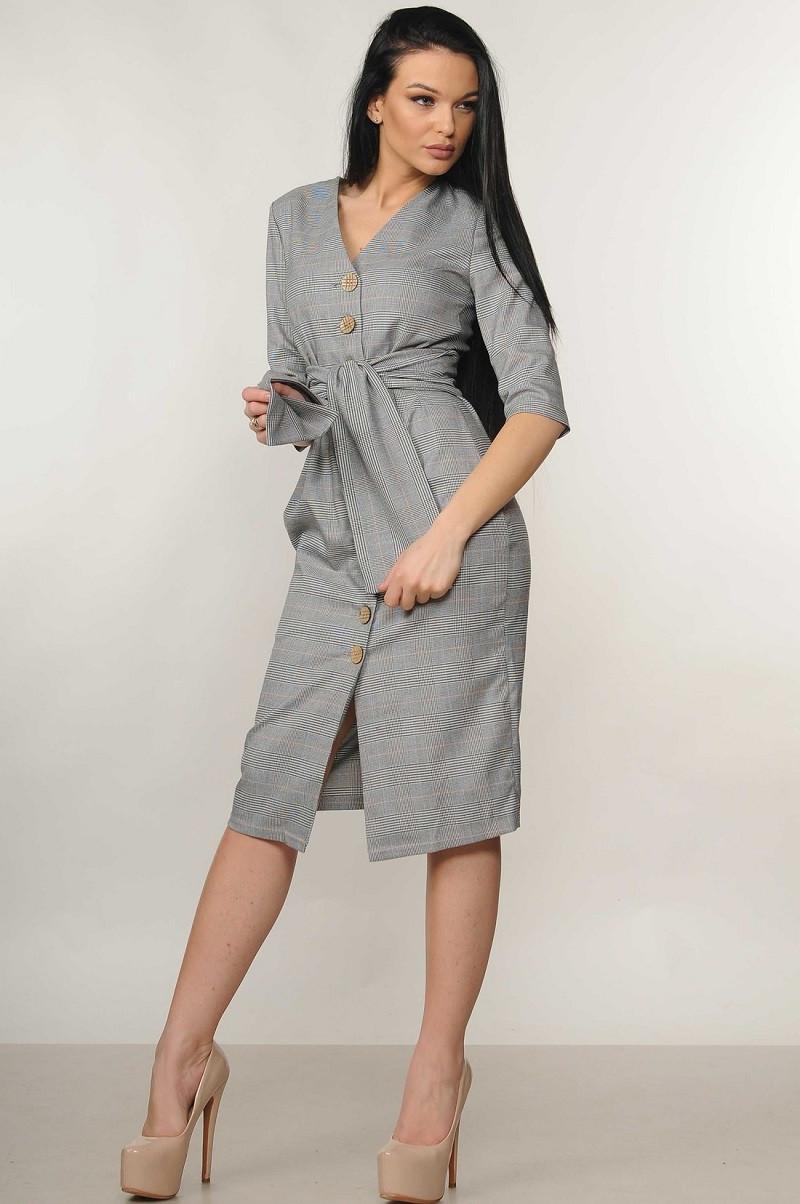 3045384cad6 Элегантное деловое платье на пуговицах Kian (42–52р) в расцветках ...