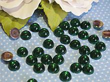 """""""Крапелька роси"""" клейовий декор, 8 мм, колір зелений, 50 шт"""