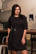 """Короткое платье прямого кроя """"LIORA"""" с поясом и карманами (большие размеры), фото 3"""