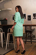 """Короткое платье прямого кроя """"LIORA"""" с поясом и карманами (большие размеры), фото 2"""