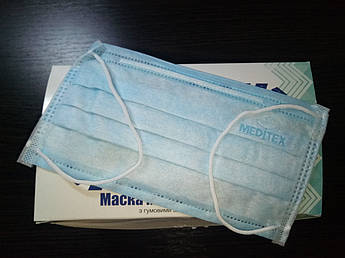 Маски медицинские MEDITEX Белый
