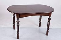 """Розкладний кухонний стіл """"Бруно"""" (темний горіх/білий/бежевий) 129см, фото 1"""