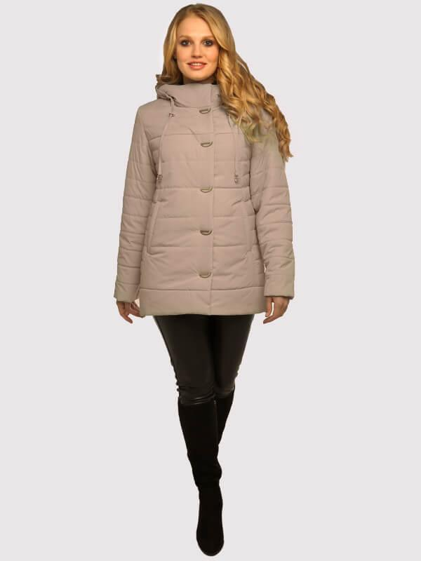 Куртка демисезонная женская бежевая размеры: 50-60