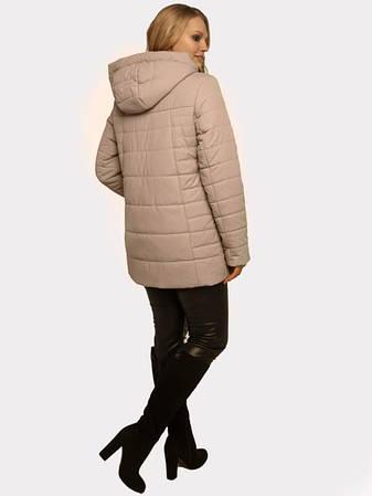 Куртка демисезонная женская бежевая размеры: 50-60, фото 2