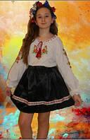 Украинская юбка черная для девочки. Оригинальный подарок к 8 марта