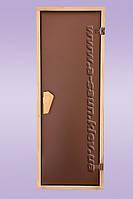 Дверь для сауны, бани  Tesli DC-Sateen (Матовая) 700*1800 мм ., фото 1