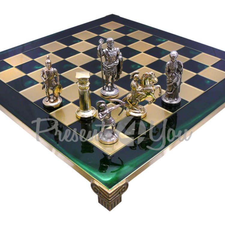 Шахматы Manopoulos «Римляне», зеленые, 44х44 см (088-1002S)