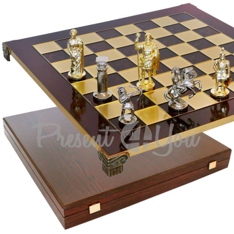 Шахматы Manopoulos «Римляне», красные, 44х44 см (088-1003S)