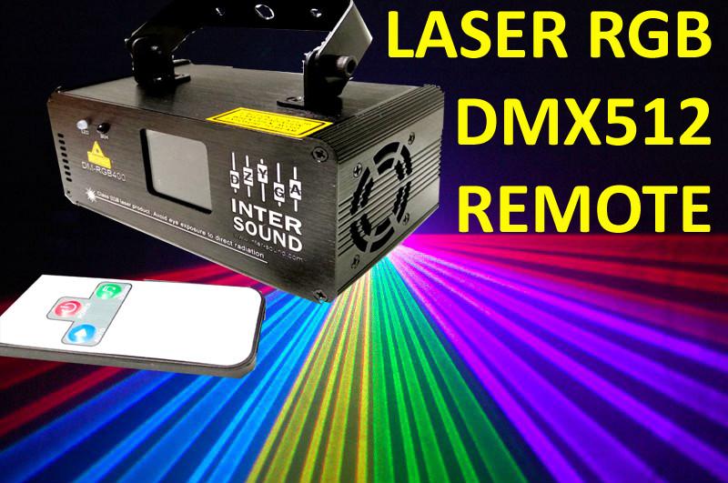 Диско лазер проектор RGB с пультом ДУ DMX512.DM-RGB400