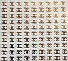 """Наклейка на ногти металлизированная золотая   2D  """"GLOBOS"""" логотип  IGK17G"""