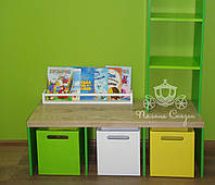 """Короб, бокс, контейнер для игрушек на прорезиненных колёсах """"Универсал"""", МДФ, фанера, фото 1"""