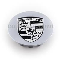 Колпачек Porche серый эмблема черно-белая, фото 1