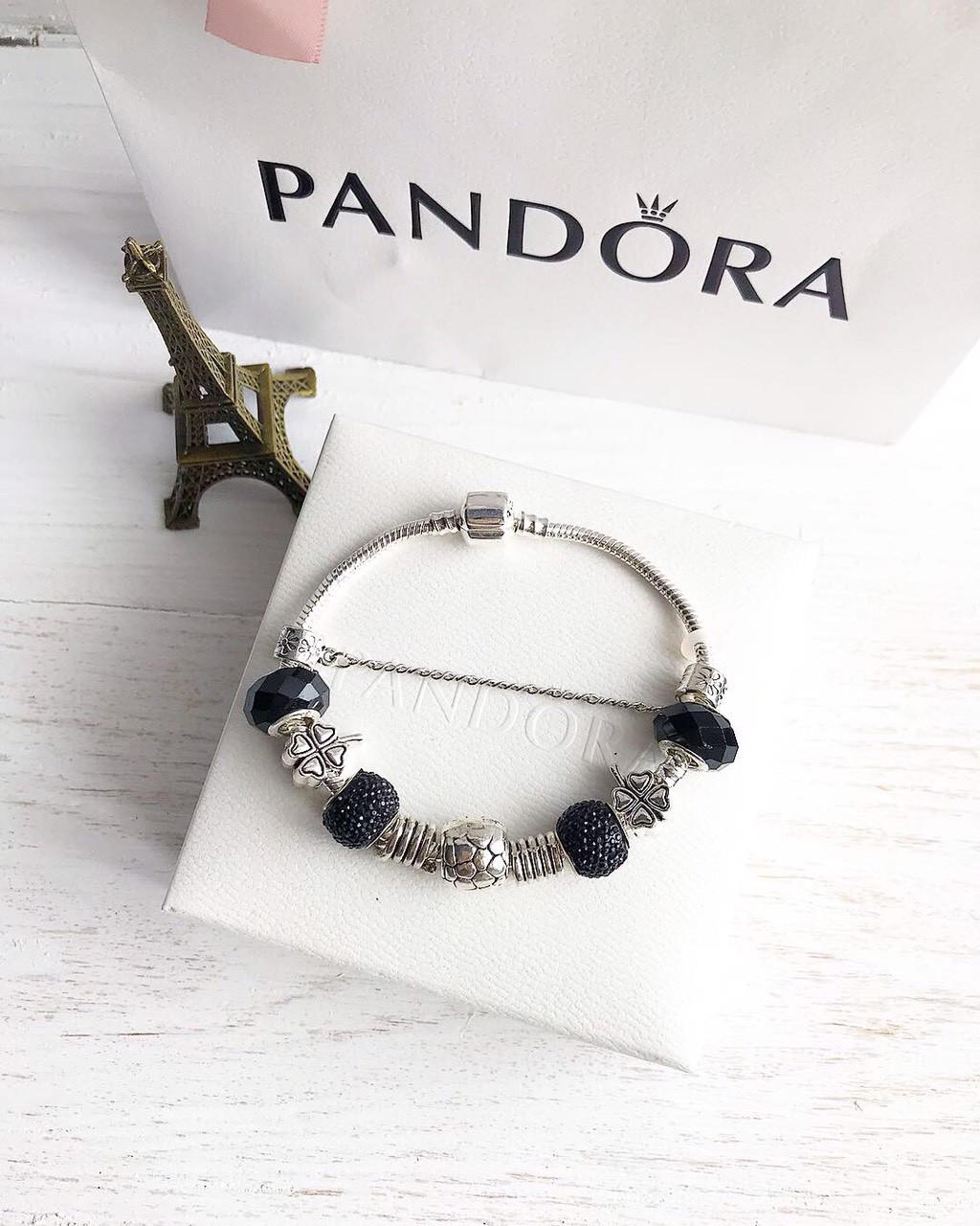 Браслет c шармами Pandora копия пандора