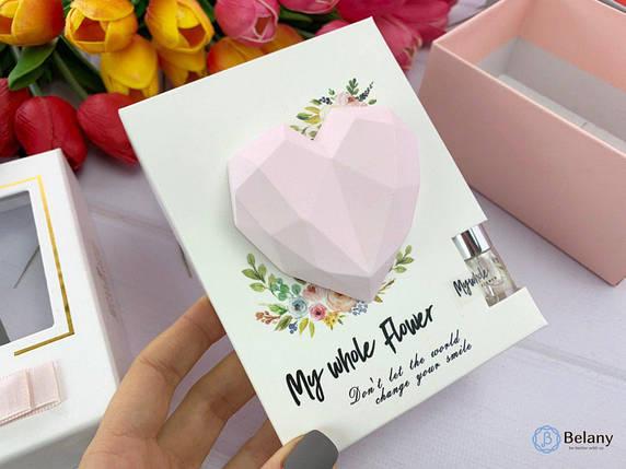 "Ароматизатор на подарок ""HEART"" подарочный набор розовое сердце , фото 2"