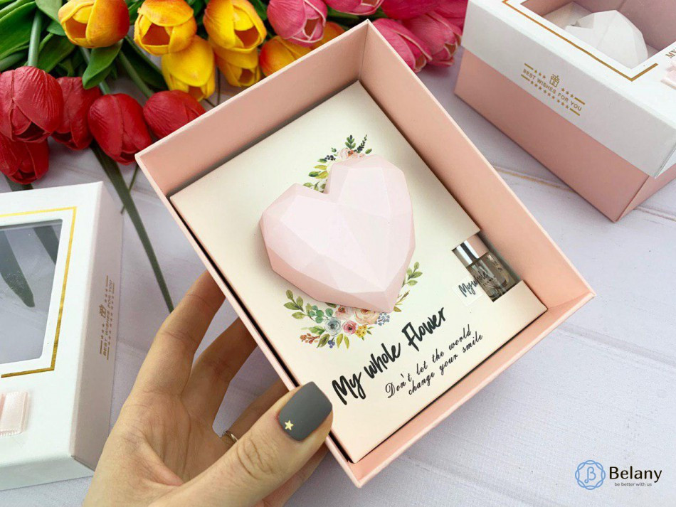 "Ароматизатор на подарок ""HEART"" подарочный набор розовое сердце"