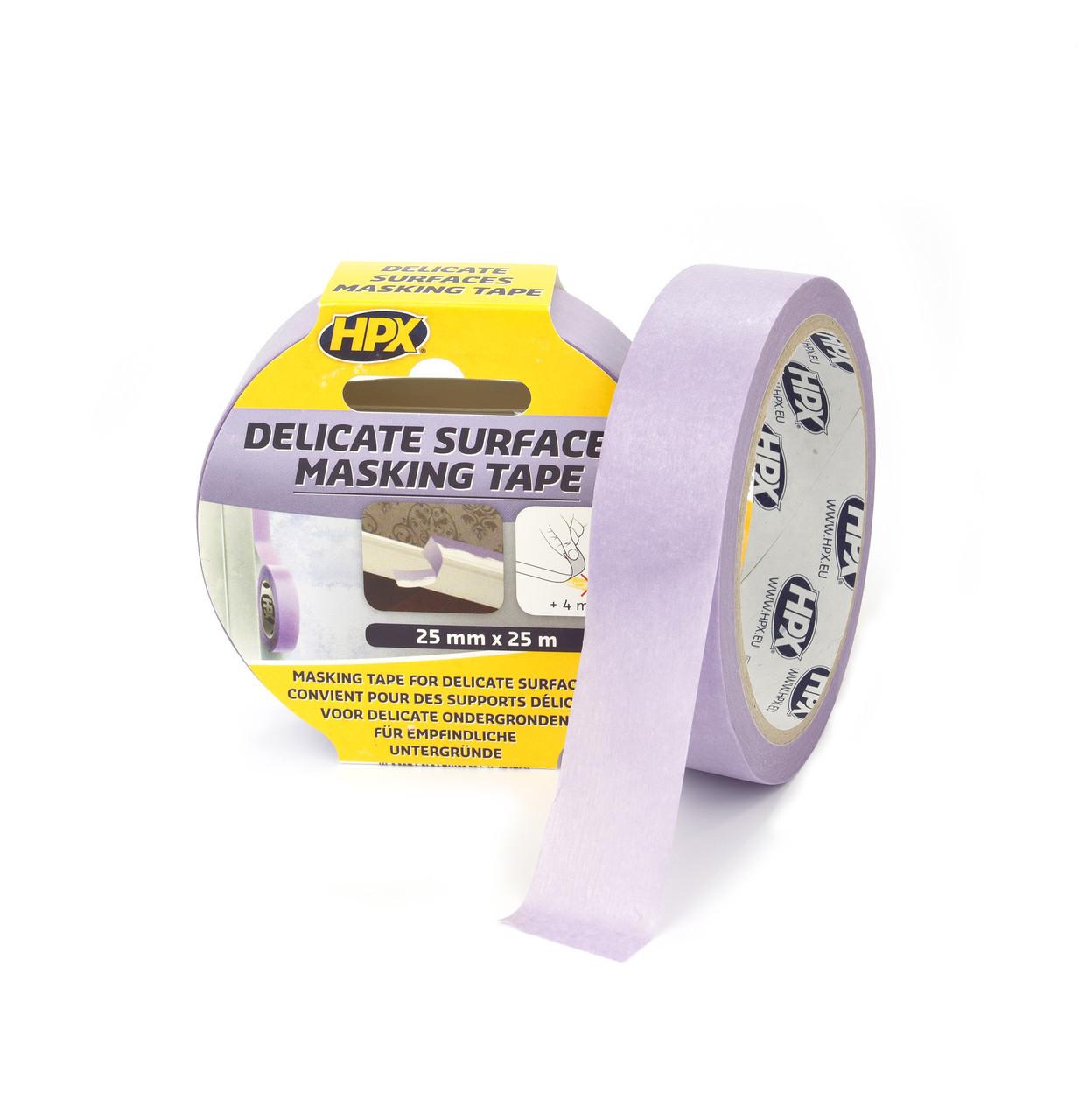 Маскувальна стрічка (скотч) для делікатних поверхонь і чітких контурів Безпечне зняття 25 мм х 25 м. HPX
