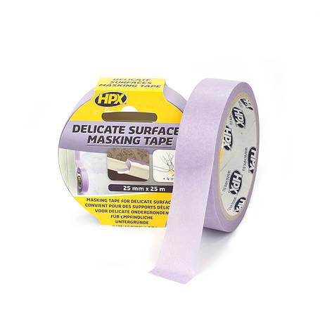 Маскувальна стрічка (скотч) для делікатних поверхонь і чітких контурів Безпечне зняття 25 мм х 25 м. HPX, фото 2