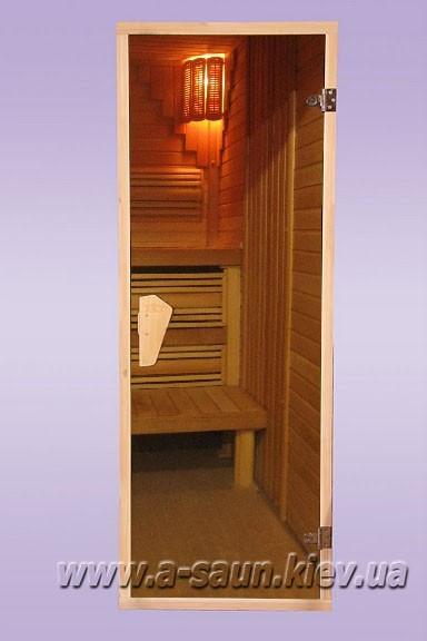 Дверь для бани и сауны Tesli  2050 x 800 тон бронза