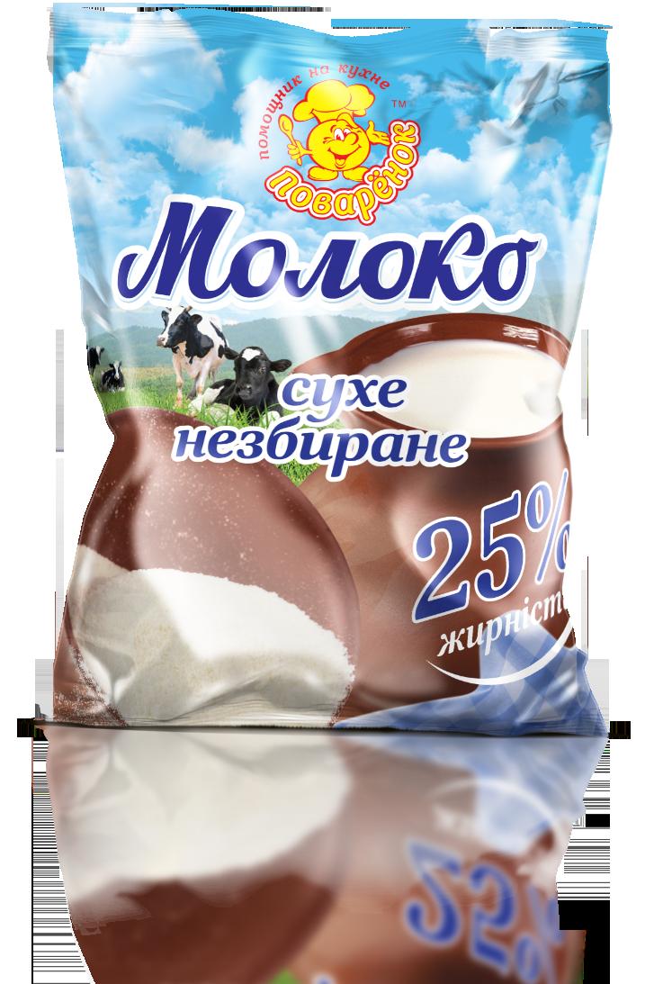 Молоко сухое 25% жирности 100 г.