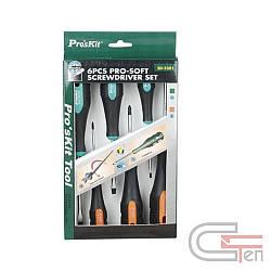 Pro'sKit SD-2301 Набор крестообразных и плоских отверток с мягкими рукоятками