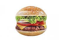 Пляжный надувной матрас - плот Intex 58780 «Гамбургер», 145 х 142 см