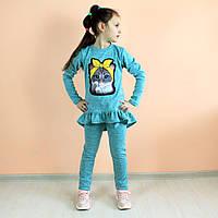 Детский  костюм Ксюша кот бирюза тм VDAGS  размер 128