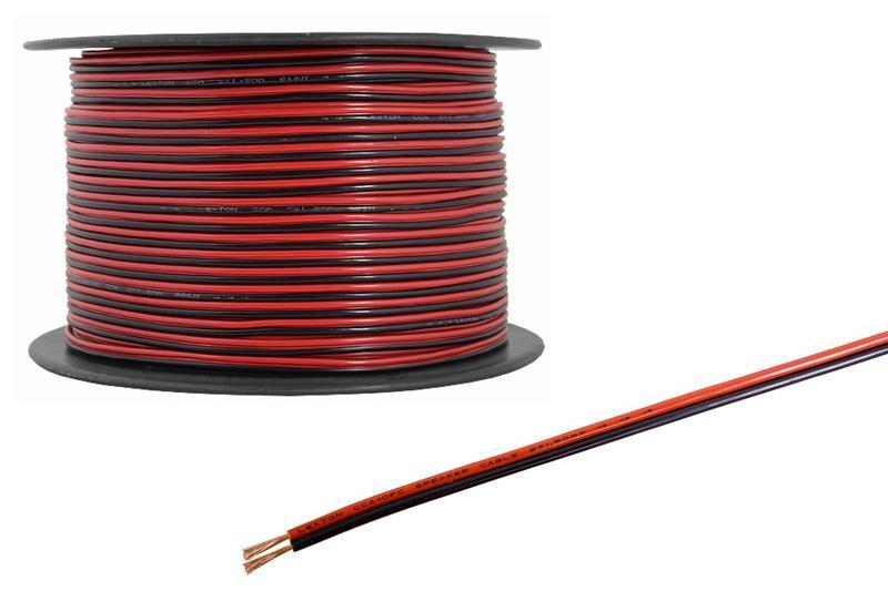 Акустический кабель Sound Star 18AWG 2x16/0,20mm чёрно-красный ПВХ 1m