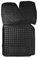 Коврики в салон Vw Caddy III 2004 - 2015, черные, полиуретановые (Avto-Gumm, 11341-11346) - передний пассажирский