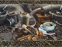 Ткань вафельная ширина 50 см Кофе