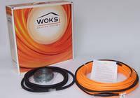 Теплый пол WOKS-10, тонкий двухжильный кабель 800ВТ