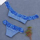 Жіночий роздільний купальник з рюшами, фото 2