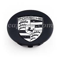 Ковпачок Porche чорний емблема чорно-біла, фото 1