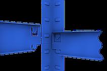 Стеллаж полочный Стандарт, крашенный, на зацепах (2000х1000х600), 5 полок, ДСП, 220 кг/полка, фото 2