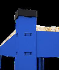Стеллаж полочный Стандарт, крашенный, на зацепах (2000х1000х600), 5 полок, ДСП, 220 кг/полка, фото 3